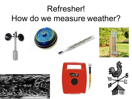 Refresher! How do we measure weather?. Microclimates - investigation Learning Objective: To carry out field work to investigate the best place for a picnic.
