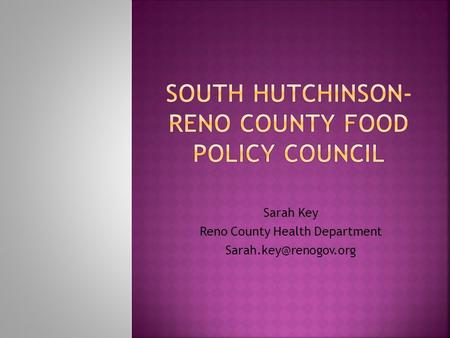 Sarah Key Reno County Health Department