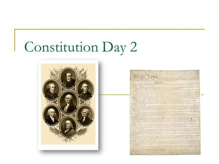 Constitution Day 2. Article II- The Executive Branch A. Section 1: President 1. Term: 4 year terms 2. Electoral College: popularly elected representatives.