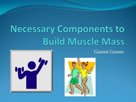 Gianni Grasso. Goals Our goal is to Improve: Muscular Strength Muscular Endurance Flexibility Overall Health.