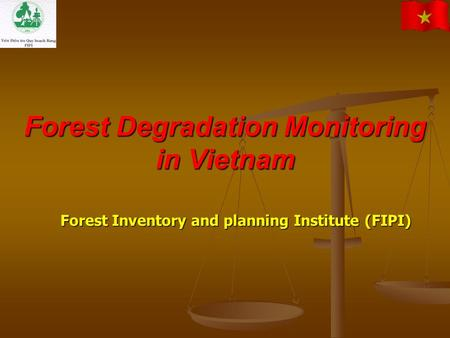 Forest Degradation Monitoring in Vietnam Forest Inventory and planning Institute (FIPI)