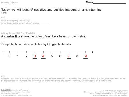 DataWORKS Educational Research (800) 495-1550  ©2012 All rights reserved. Comments? 5 th Grade Number Sense.