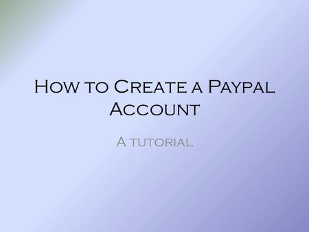 How to Create a Paypal Account A tutorial. At the Login screen for Paypal, click the option to Pay using your credit or debit card.