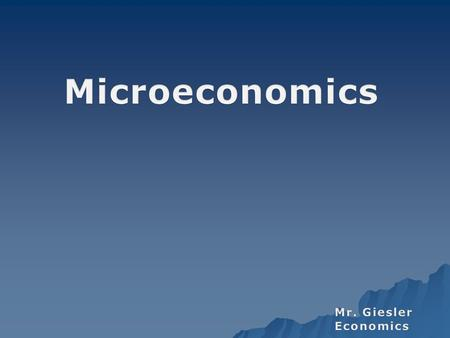 Why Microeconomics Is Important At a Business and Professional Level  Imagine for a moment that you are a small business owner  Questions and Concerns.