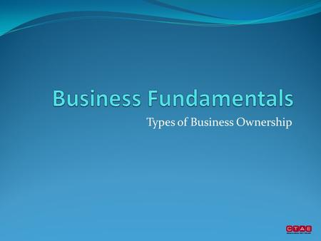 Types of Business Ownership. Who is your boss? Who is your boss's boss? Can you become part owner? Forms of business ownership and type of business help.