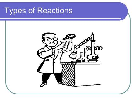 Types of Reactions.