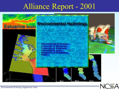 Environmental Hydrology Applications Team Alliance Report - 2001.
