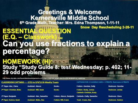 Greetings & Welcome Kernersville Middle.