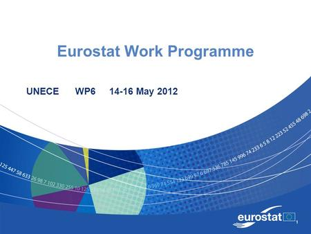 1 Eurostat Work Programme UNECE WP6 14-16 May 2012.