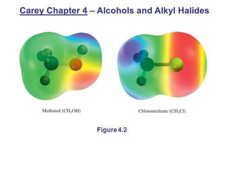 Figure 4.2 Carey Chapter 4 – Alcohols and Alkyl Halides.