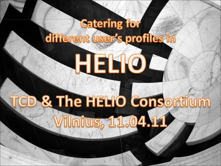 HELIO Introduction HELIO is designed to help scientists: finding, retrieving, and analyzing data regarding the sun, its related phenomena and their effects.