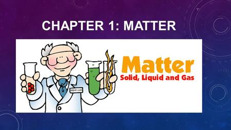 CHAPTER 1: MATTER. 1.1 MATTER HAS MASS AND VOLUME.