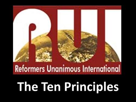 The Ten Principles.
