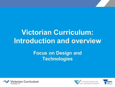 Victorian Curriculum: Introduction and overview
