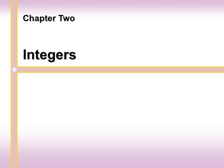 Integers Chapter Two. Introduction to Integers Section 2.1.
