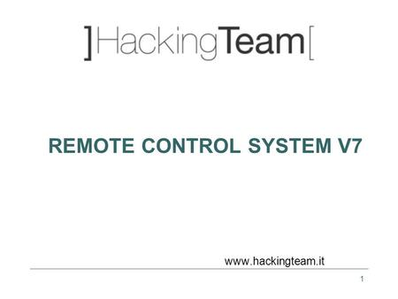 1 REMOTE CONTROL SYSTEM V7 www.hackingteam.it. 2 Introduction.
