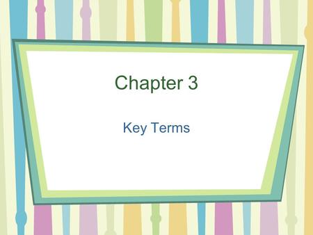 Chapter 3 Key Terms. Gross Domestic Product (GDP) The total value of the goods and services produced in a country in a given year.