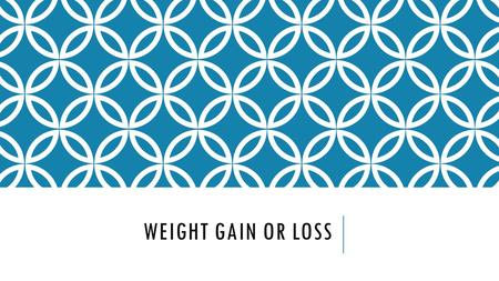 WEIGHT GAIN OR LOSS. MYTH OR FACT? An eating plan which offers weight reduction of over eight pounds in the first week is a good plan. This gives your.