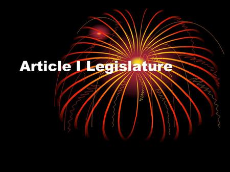 Article I Legislature. Legislative Branch The U.S. Congress is made up of two parts, the House of Representatives and the Senate. Congress meets at the.