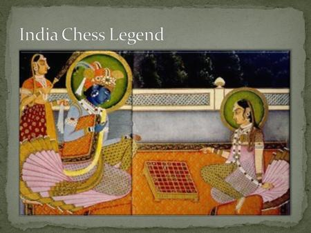 India Chess Legend.