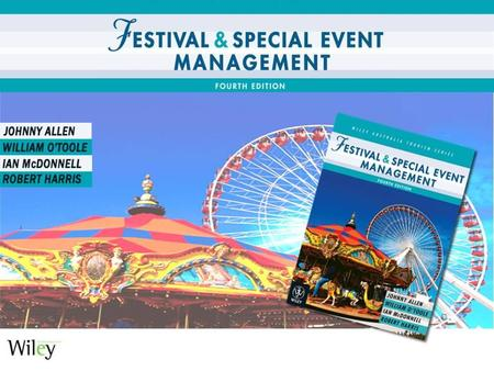 Festival and Special Event Management 4e Chapter 18 Risk Management.