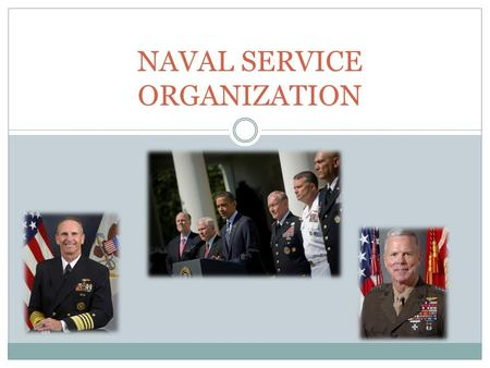 NAVAL SERVICE ORGANIZATION. Outline I. National Military Structure II. Department of the Navy Leadership III. Chain of Command IV. Unified Commands V.