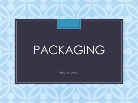 PACKAGING How it works. Learning Objectives Today we will learn Definition of packaging Funds we typically package Estimated Financial Assistance & its.
