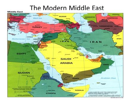 The Modern Middle East.