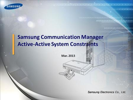 Samsung Communication Manager Active-Active System Constraints Mar. 2013.