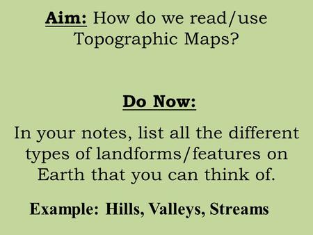how to read a topographic map elevation