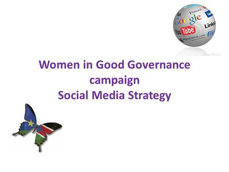 Women in Good Governance campaign Social Media Strategy.