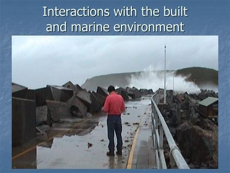 Interactions with the built and marine environment.