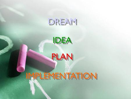 Semiconductors, BP&A Planning, 2003-01-291 DREAM PLAN IDEA IMPLEMENTATION.