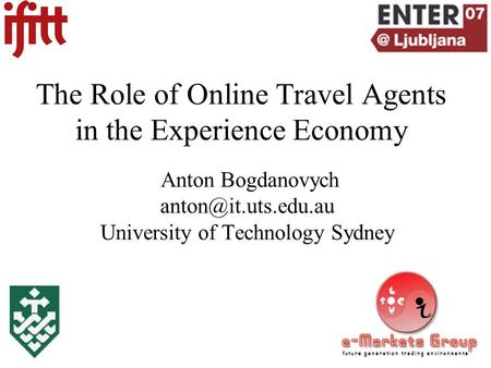 The Role of Online Travel Agents in the Experience Economy