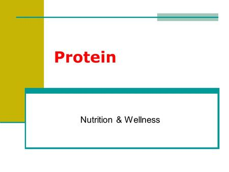 Protein Nutrition & Wellness. What are Proteins? Proteins: large complex molecules composed of amino acids. Contain carbon, hydrogen, oxygen, nitrogen.
