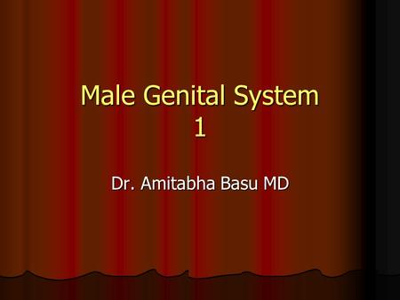 Male Genital System 1 Dr. Amitabha Basu MD. Penis a. Mal formations b. Inflammatory conditions c. Premalignant lesions and malignant conditions.