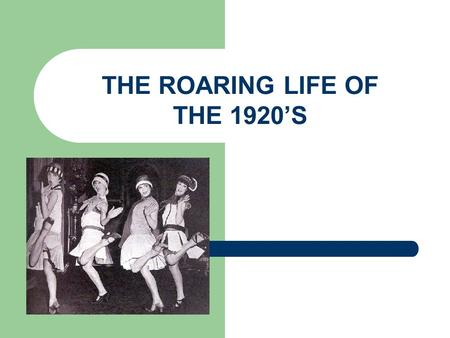 changes in american lifestyle in the roaring twenties urbanization rights granted to women and a nee The role of babe ruth in the history of the united states of america united states history became perennial american league and world series champions.