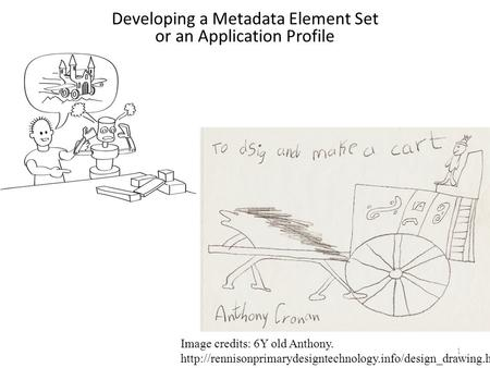 1 Developing a Metadata Element Set or an Application Profile Image credits: 6Y old Anthony.