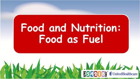 Food and Nutrition: Food as Fuel. What do cars, planes and rocket ships need to keep moving? FUEL!
