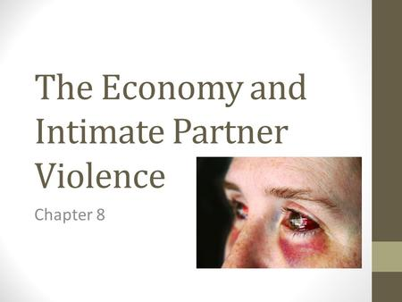The Economy and Intimate Partner Violence Chapter 8.