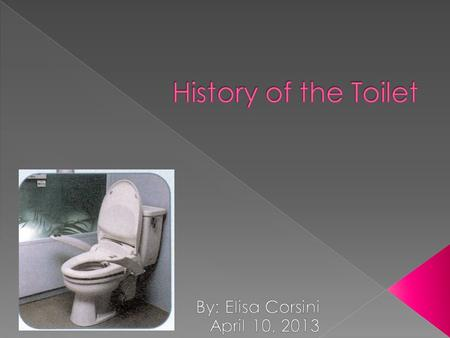  2500 BC- Harappa city dwellers built indoor toilets  Non-flushable toilets empty into a sewer system  1500 BC – The technology is lost during an invasion.