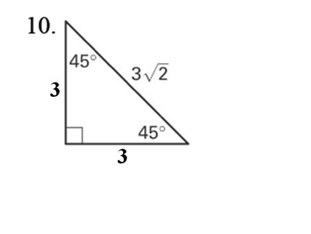 5.3 What Patterns Can I Use? Pg. 10 Constant Ratios in Right Triangles.