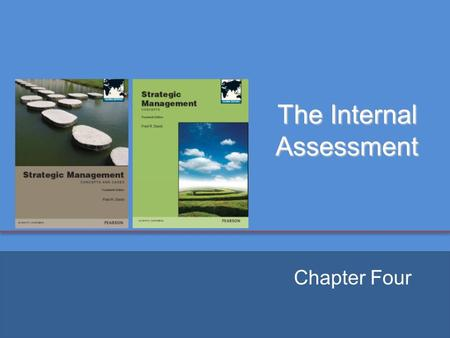 The Internal Assessment Chapter Four. Key Internal Forces  Distinctive competencies  A firm's strengths that cannot be easily matched or imitated by.