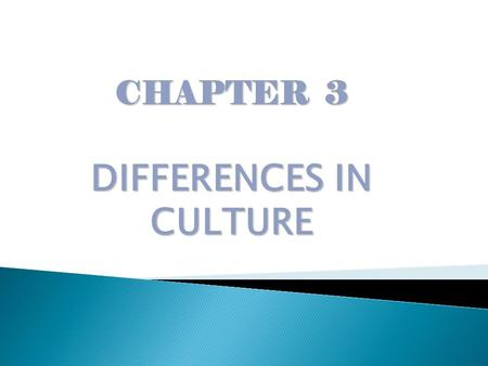 CHAPTER 3 DIFFERENCES IN CULTURE.  In what ways do cultural differences between nations, especially language and religion, cause complications in international.