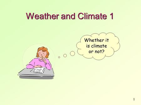 Whether it is climate or not?