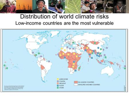 1 Distribution of world climate risks Low-income countries are the most vulnerable.