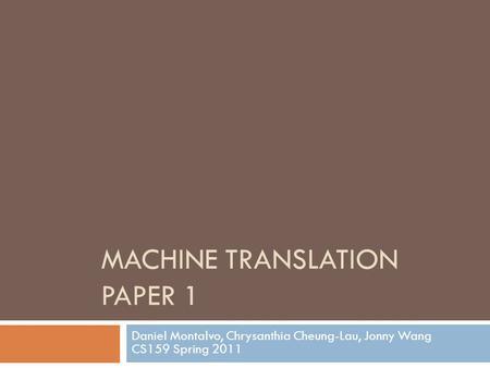 research paper daniel