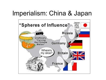 Imperialism: China & Japan. China Resists the West China was self-sufficient country (strong crops / industry) Weak Spot = Opium was the only western.