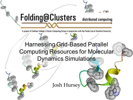 Harnessing Grid-Based Parallel Computing Resources for Molecular Dynamics Simulations Josh Hursey.