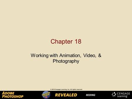 Chapter 18 Working with Animation, Video, & Photography.